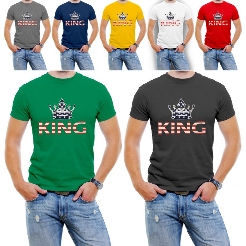 "USA Stars and Stripes ""King"" Men's T-Shirt-Daily Steals"