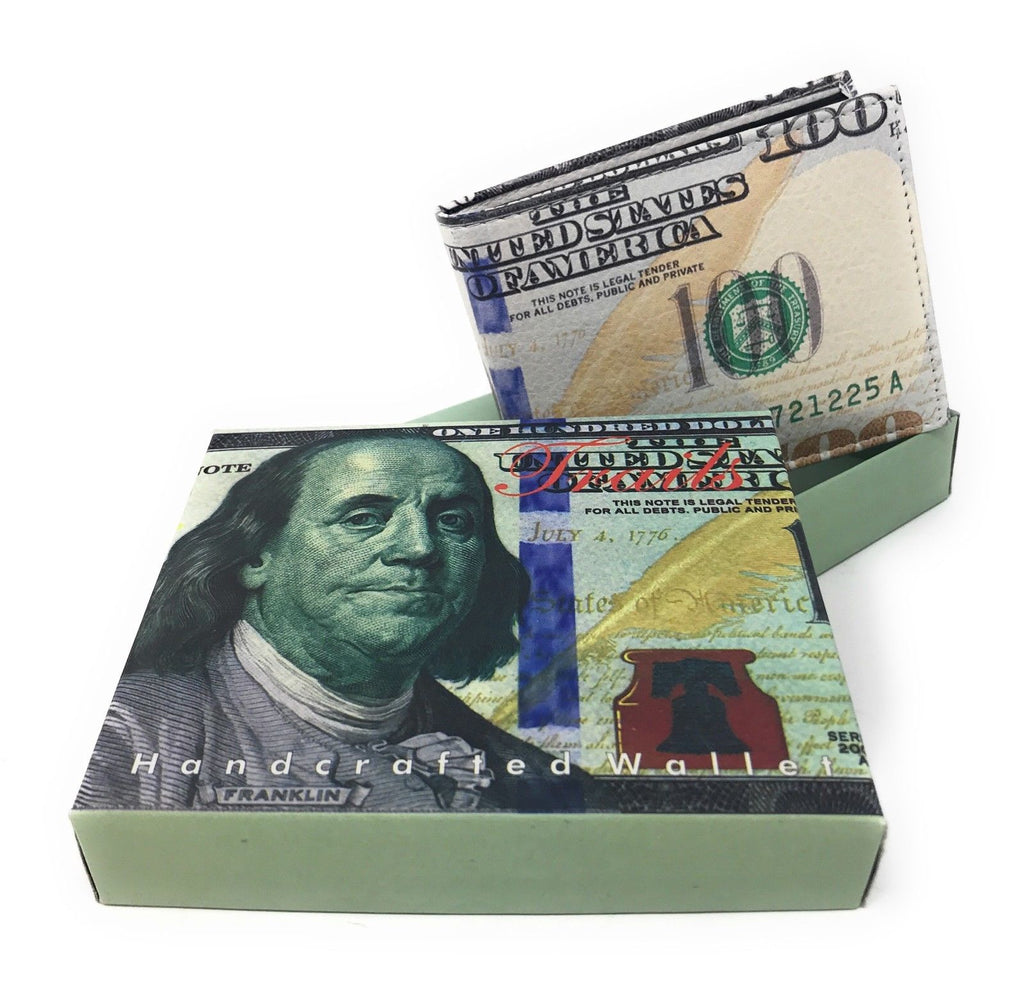 Bifold Wallets With Printed Designs - Comes in Gift Box-US 100 DOLLARS-Daily Steals