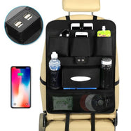 USB Car Phone Charger Back Seat Organizer - 2 Pack-Daily Steals