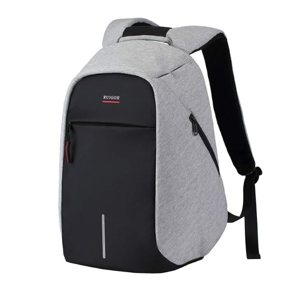 Daily Steals-Link 40, 13L by RUIGOR For Laptop - Anti-Theft, Water and Cut Resistant Backpack, USB Connector - Gray/Black-Travel-