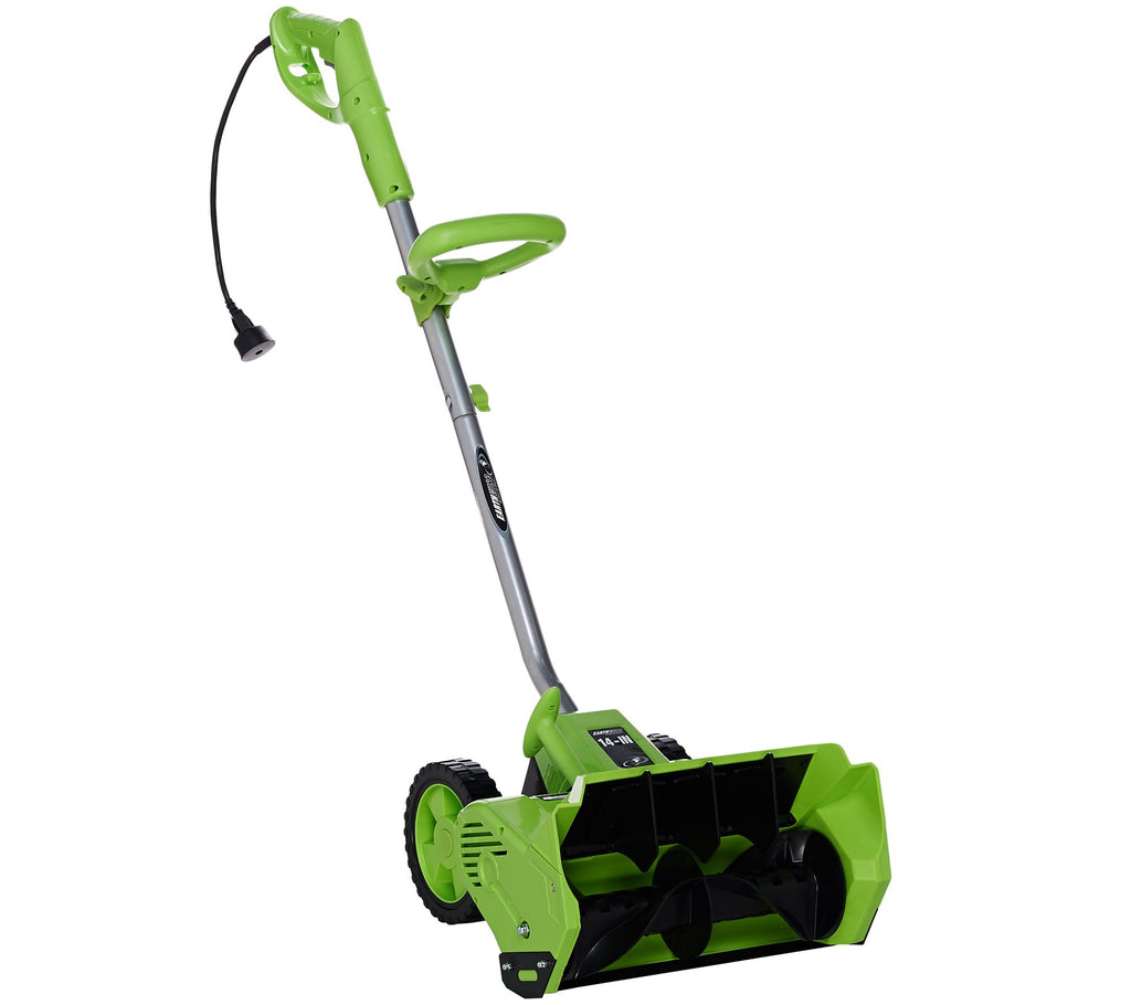 "Earthwise Snow Thrower Snow Shovel 12 AMP Corded Electric 14"" - Assorted Colors-Green-Daily Steals"