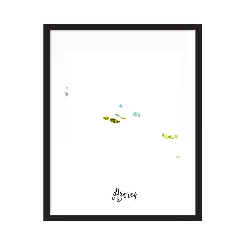 Azores Watercolor Map Print - Unframed Art Print