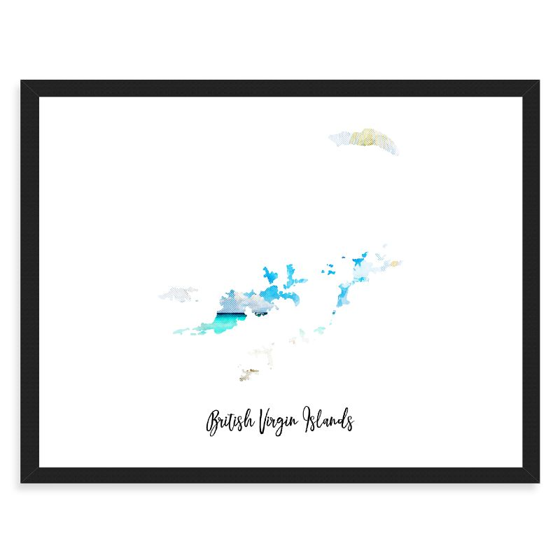 British Virgin Islands Watercolor Map Print - Unframed Art Print-Daily Steals