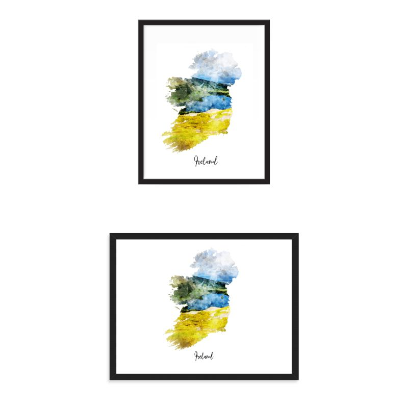 Ireland Watercolor Map Print - Unframed Art Print-Daily Steals