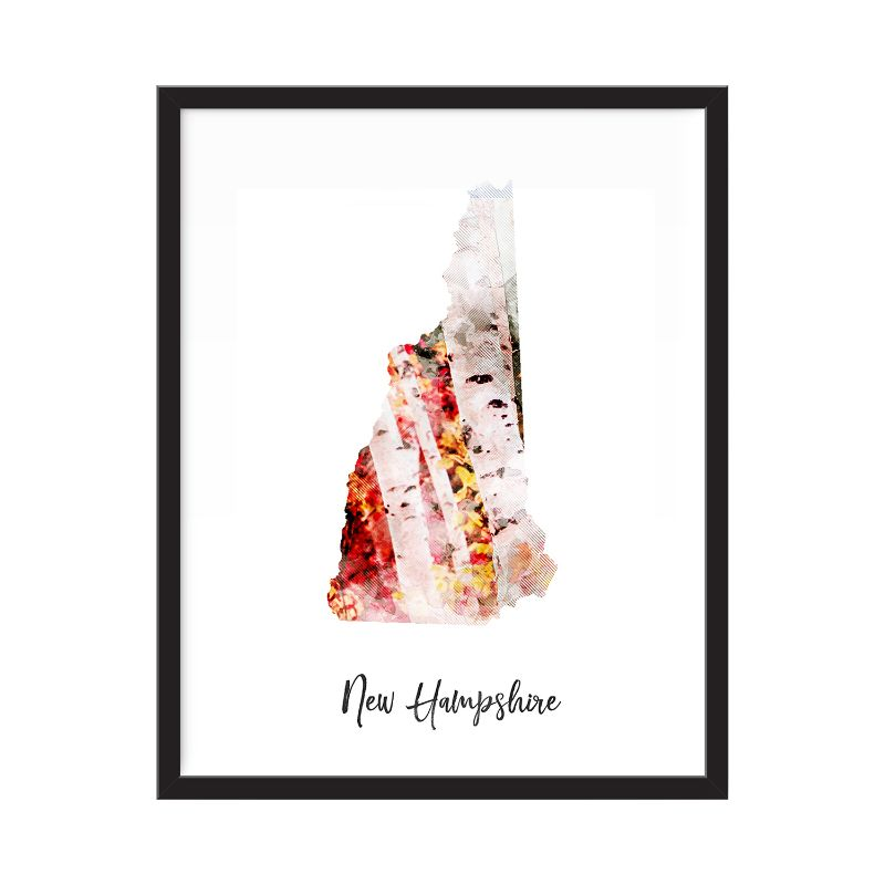 New Hampshire Watercolor Map Print - Unframed Art Print-Daily Steals