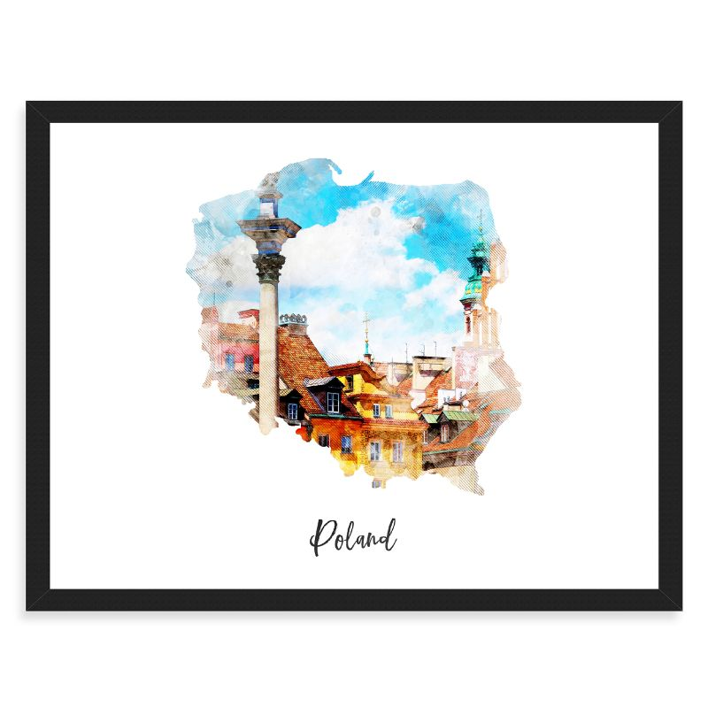 Poland Watercolor Map Print - Unframed Art Print-Daily Steals