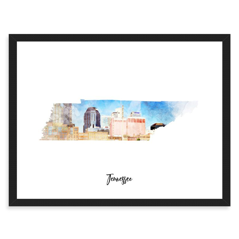 "Tennessee Watercolor Map Print - Unframed Art Print-18""x12""-Horizontal/Landscape-Daily Steals"