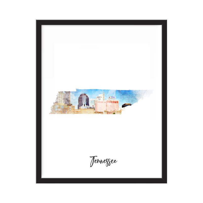 Tennessee Watercolor Map Print - Unframed Art Print-Daily Steals