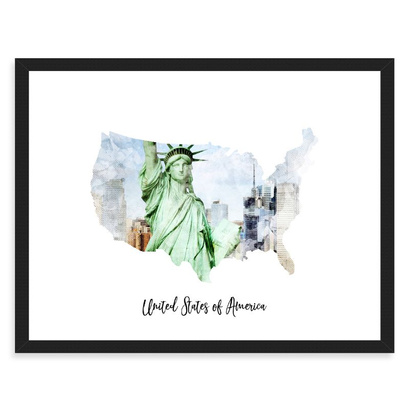 "United States Of America Watercolor Map Print - Unframed Art Print-7""x5""-Horizontal/Landscape-Daily Steals"