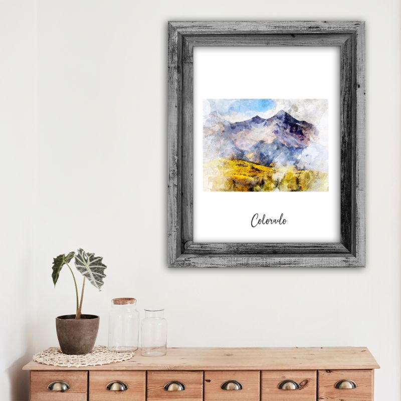 "Colorado Watercolor Map Print - Unframed Art Print-5""x7""-Vertical/Portrait-Daily Steals"