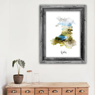 "Wales Watercolor Map Print - Unframed Art Print-11""x14""-Vertical/Portrait-Daily Steals"