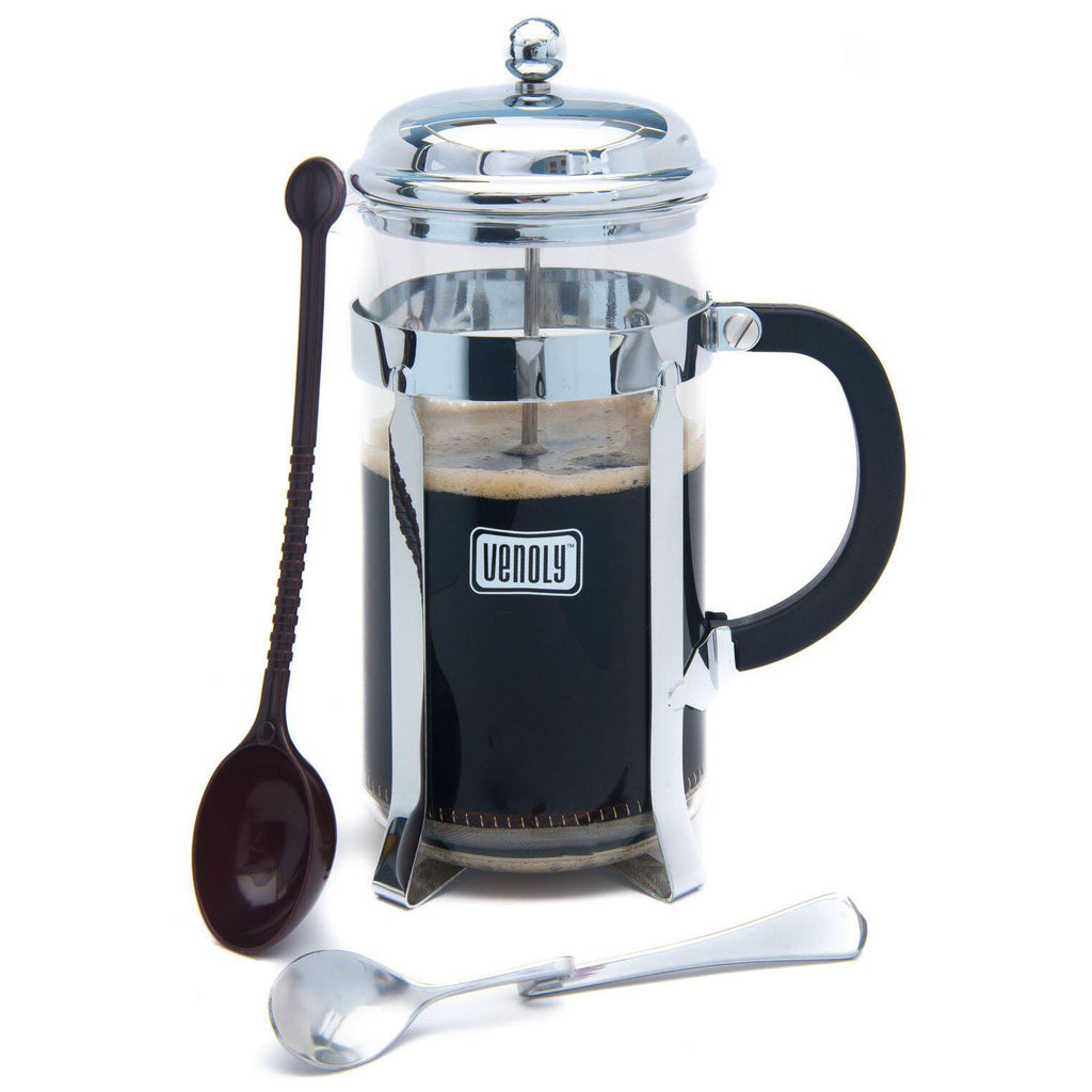 Venoly 8-Cup French Press Coffee and Tea Maker with Free Spoons-Daily Steals