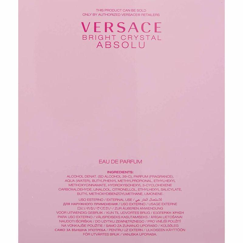 Versace Bright Crystal Absolu Eau de Perfume Spray for Women, 3.0 Ounces-
