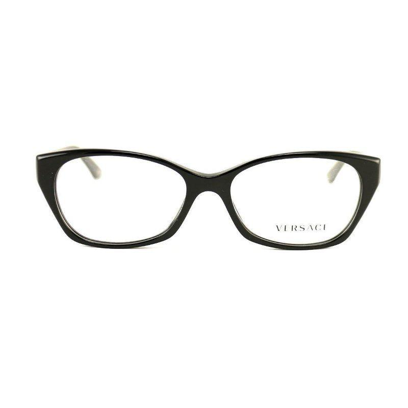 Versace Women's Eyeglasses VS 3170-BGB1 Glossy Black Acetate 54 16 135-