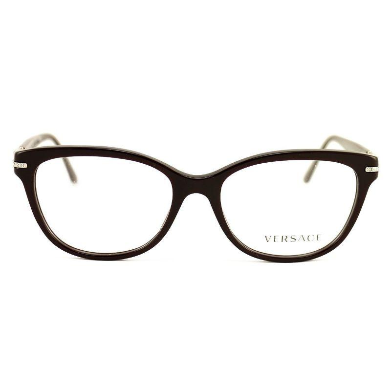 Versace Women's Eyeglasses VS 3205-B5123 Dark Brown Acetate 52 16 140-