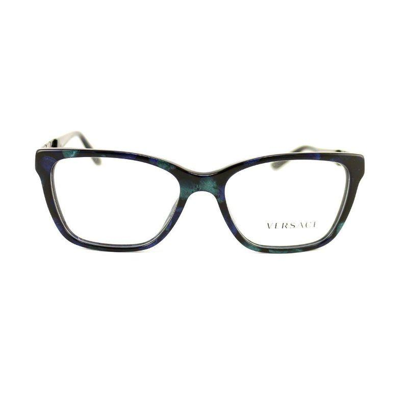 Versace Women's Eyeglasses VS3192B5127 Blue Marble Black Acetate 52 16 140-
