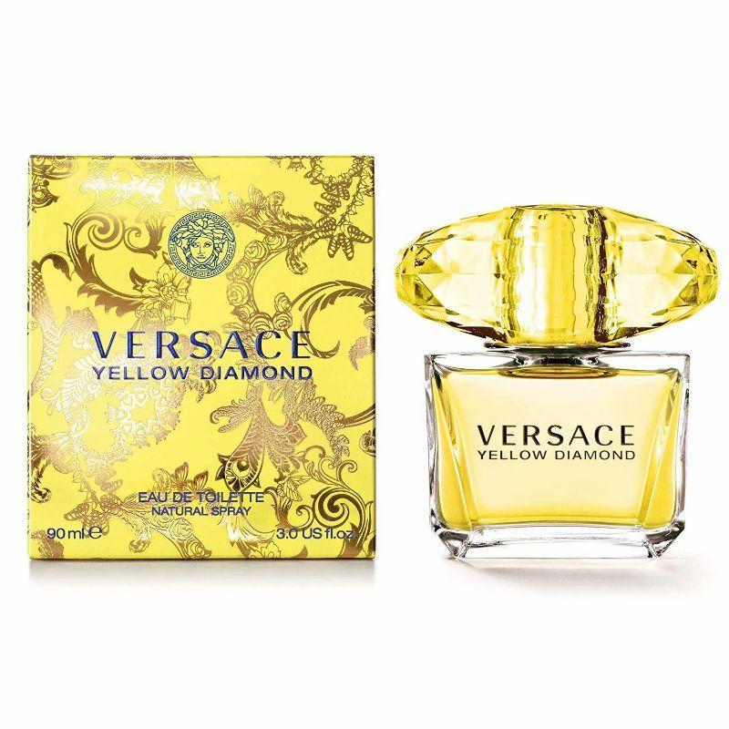 Versace Yellow Diamond Eau De Toilette Spray for Women 3.0 Ounces-