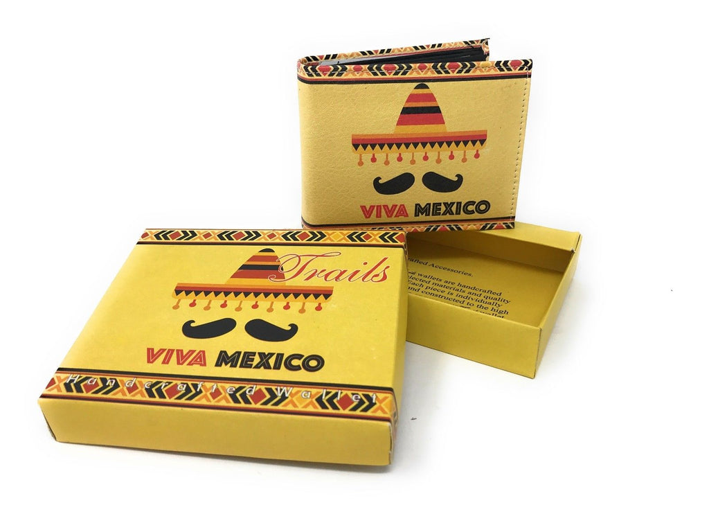 Bifold Wallets With Printed Designs - Comes in Gift Box-VIVA MEXICO-Daily Steals