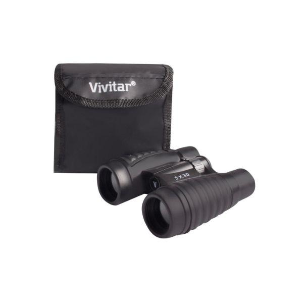 Daily Steals-Vivitar Classic Compact 5X30 Binoculars with Case - 2 Pack-Outdoors and Tactical-