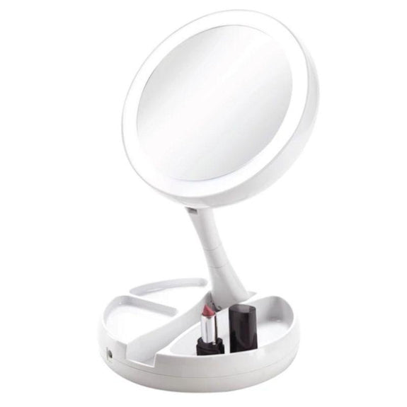 Vivitar Fold Away LED Double Sided Vanity Mirror-Daily Steals