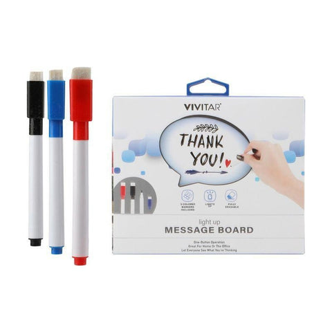 Vivitar LED Light-Up Speech Bubble Message Board and Markers-Daily Steals