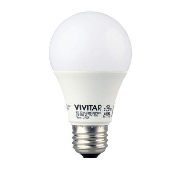 Daily Steals-Vivitar Smart Security Wireless Smart Soft White LED Bulb - 800 Lumens - 2 Pack-Home and Office Essentials-
