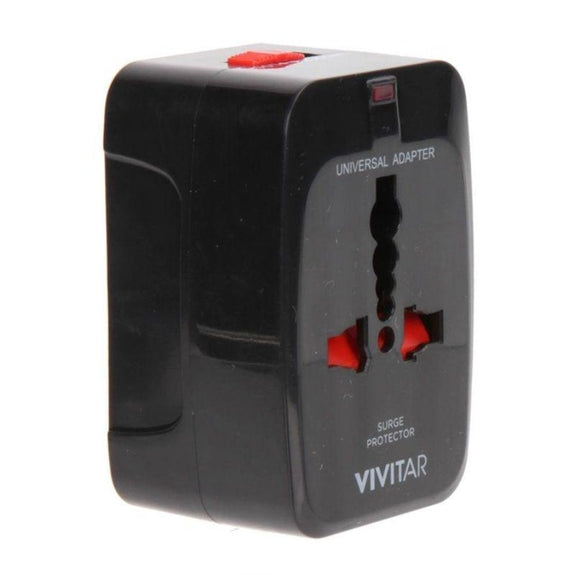 Vivitar Worldwide Travel Adapter w/ Surge Protection - 2 Pack