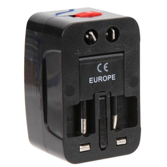 Vivitar Worldwide Travel Adapter w/ Surge Protection - 2 Pack-Daily Steals
