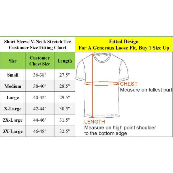 Men's Extra Soft Stretch Technology Premium Quality V-Neck Tees - 6 Pack-Daily Steals
