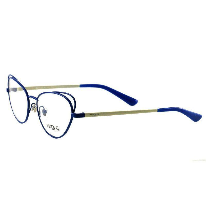Vogue Women's Eyeglasses VO 4056 5054 Pastel Blue White Full Rim Metal 52 17 135-