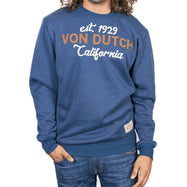 Von Dutch Men's Pullover Long Sleeve Sweatshirt-S-Est 1929 Navy-