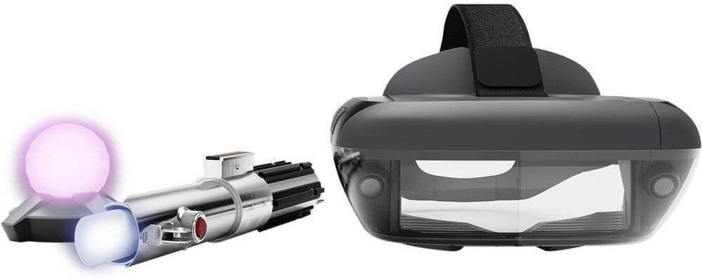 Star Wars Jedi Challenges AR Headset con Lightsaber y Tracking Beacon-Daily Steals