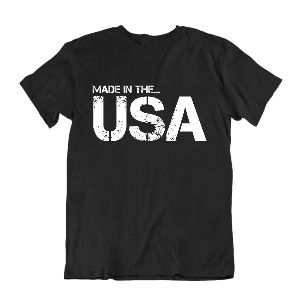 USA Born and Raised T Shirt-Black-Small-Daily Steals