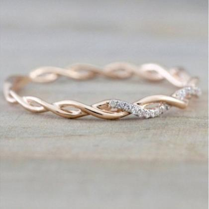 Women's Fashion 14K Plated Ring in Gold, Rose Gold, or Silver-Daily Steals
