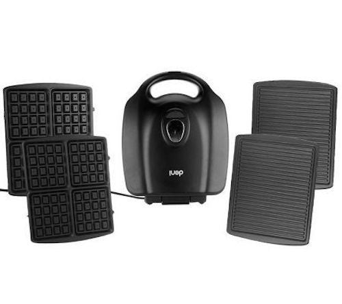 Deni Grill Panini Maker et gaufrier Combo-Black-Daily Steals