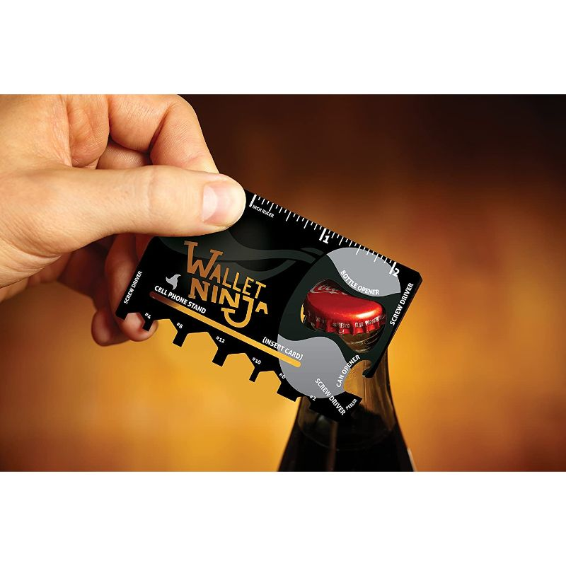 Wallet Ninja- 18 in 1 Credit Card Sized Multitool - 1, 2, 3 or 4 Pack