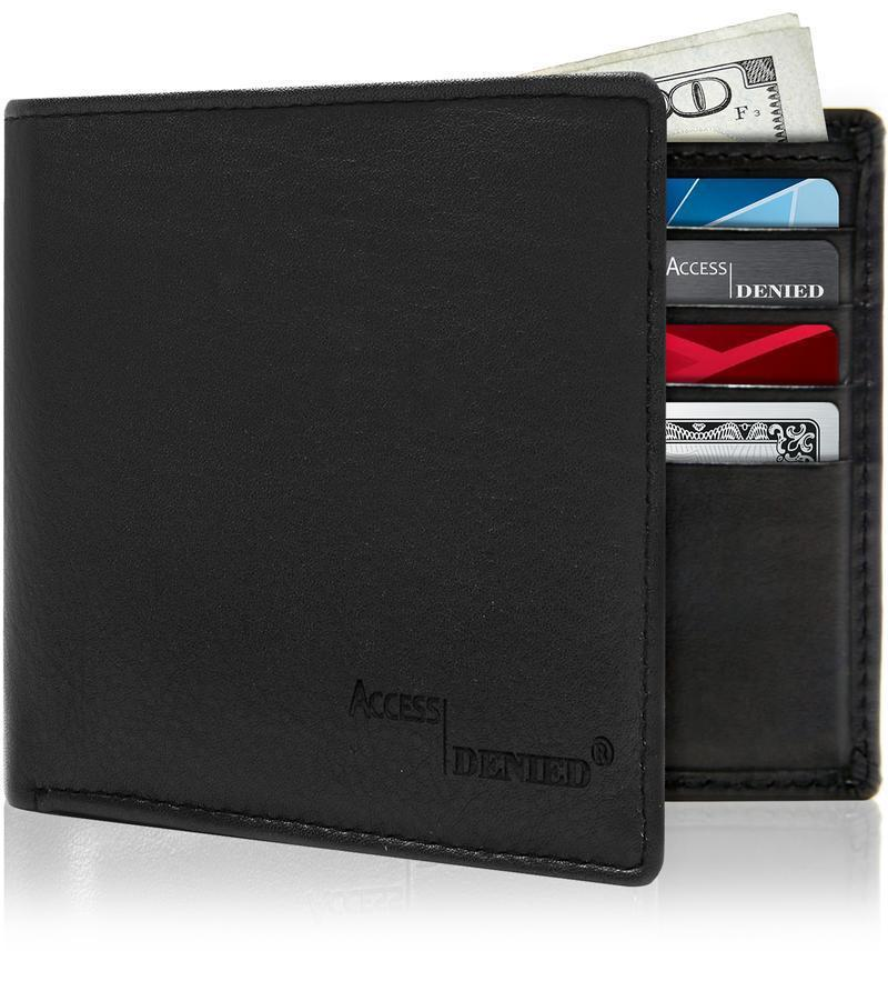 Men's Bifold Leather Wallets With ID Window RFID Blocking-Daily Steals