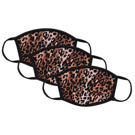 Washable Reusable Non-Medical Fabric Face Masks - 3 Pack-Animal Print-Daily Steals