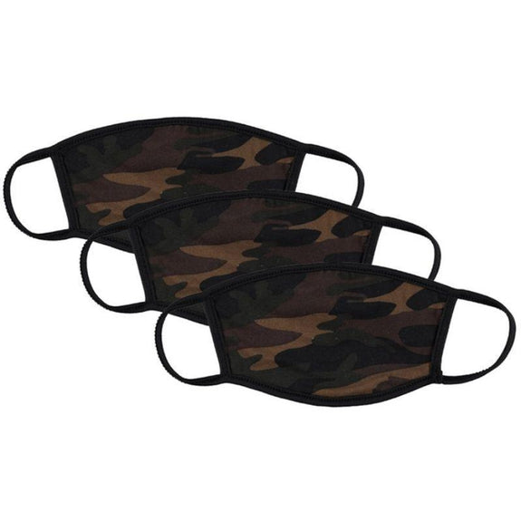 Washable Reusable Non-Medical Fabric Face Masks - 3 Pack-Camo Print-Daily Steals
