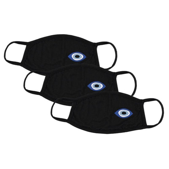 Washable Reusable Non-Medical Fabric Face Masks - 3 Pack-Evil Eye Print-Daily Steals