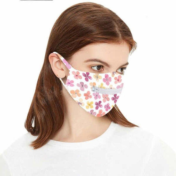 Washable Zipper Mask-Clover-