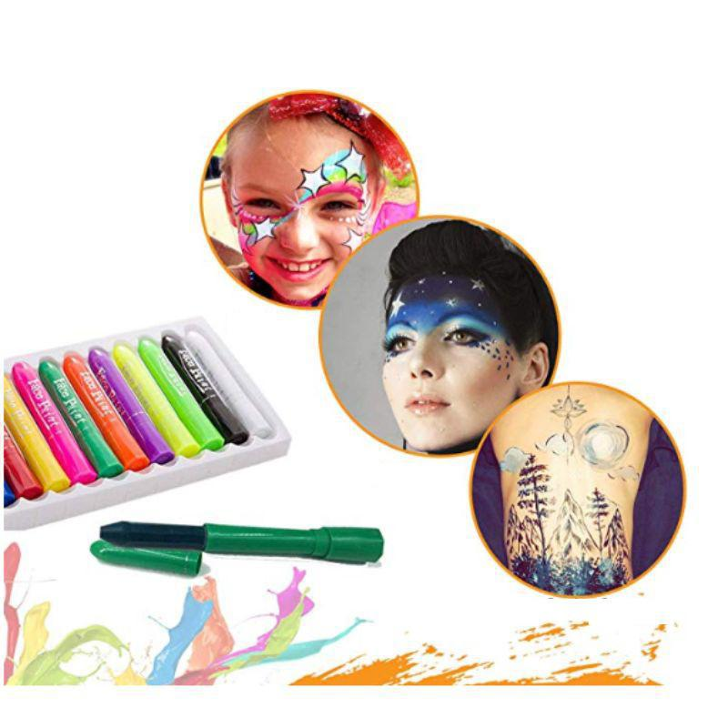 Washable Face Paint Crayons - 12 Piece-Daily Steals