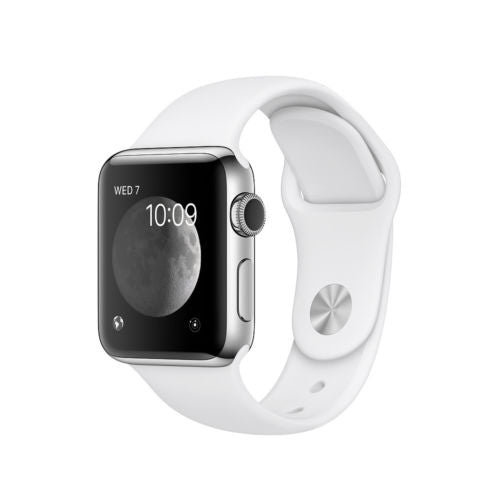 Apple Watch Series 2 38 or 42mm Aluminum Stainless Steel GPS Sport Band-Silver Case / White Band - Stainless Steel-38mm-Daily Steals