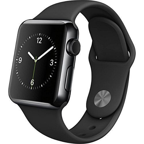 Apple Watch Series 2 38 or 42mm Aluminum Stainless Steel GPS Sport Band-Space Black Case / Black Band - Stainless Steel-38mm-Daily Steals