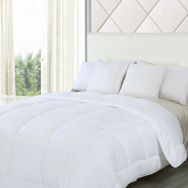 Waterford Home Oversized Down Alternative Comforter - White-Queen-Daily Steals