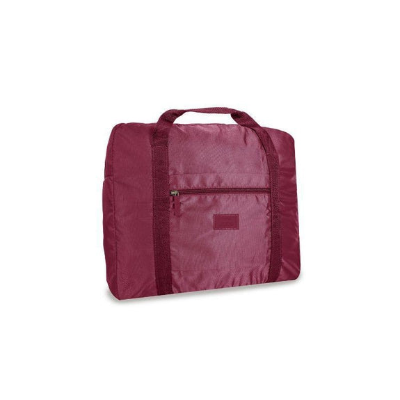Waterproof Folding Duffel Bag Carry On-Maroon-Daily Steals