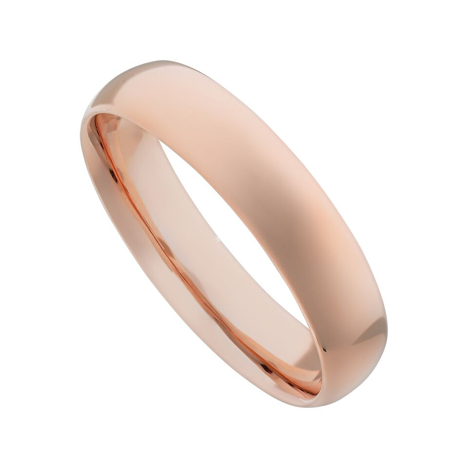 Titanium Plain Wedding Band-Rose-6-Daily Steals