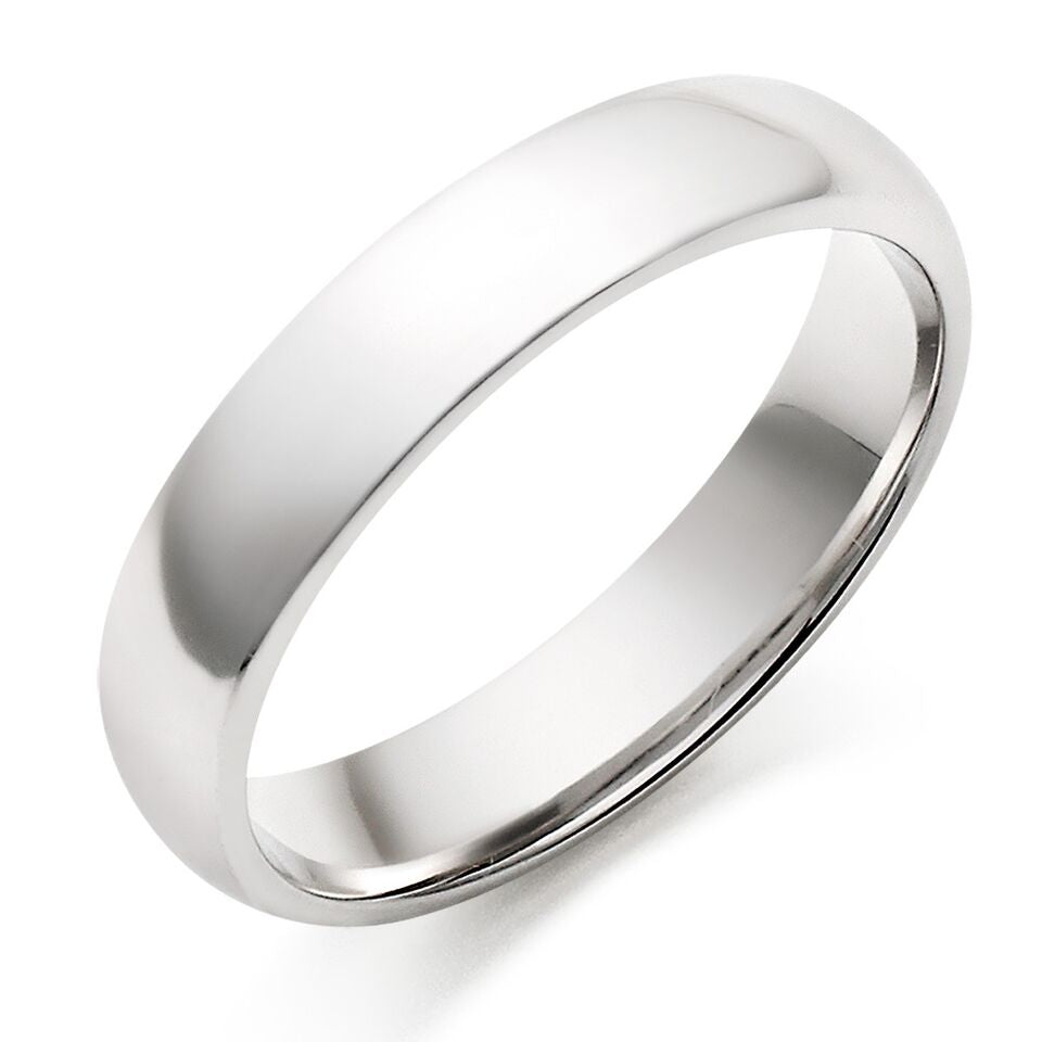 Titanium Plain Wedding Band-Silver-6-Daily Steals
