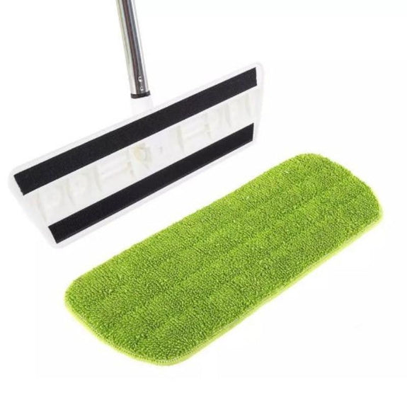 Wet or Dry Flat Mop with Reusable Microfiber Cloth-