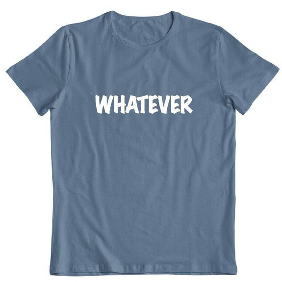"Daily Steals-""Whatever"" T-Shirt-Men's Apparel-Indigo Blue-S-"